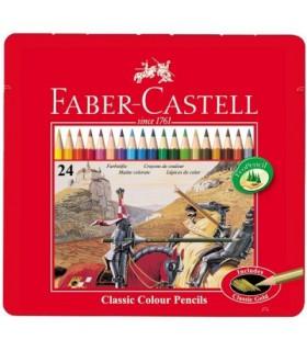 مداد رنگی 24 رنگ جعبه فلزی فابرکاستل