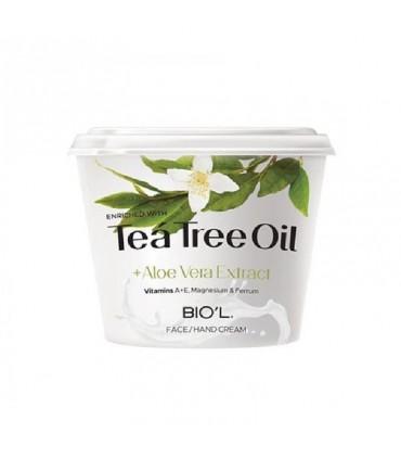 کرم مرطوب کننده Tea tree oil بیول مناسب پوست چرب و مستعد جوش