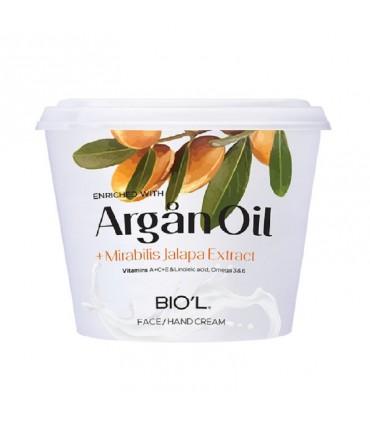 کرم مرطوب کننده ARGAN OIL بیول کاسه ای مناسب پوست خشک و حساس